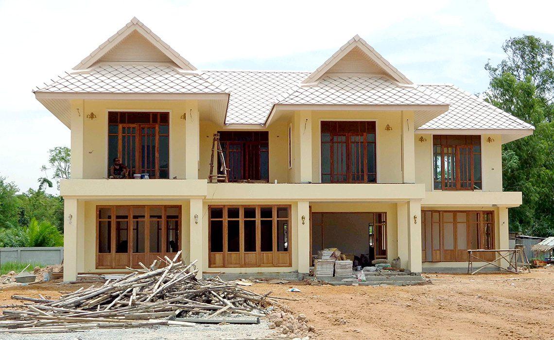 ผลงานการออกแบบและก่อสร้างบ้าน คุณชาติชาย