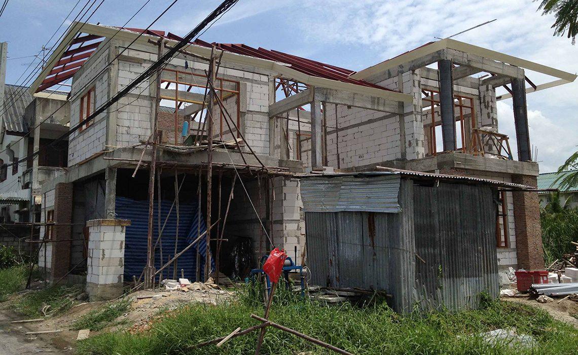 ผลงานการออกแบบและก่อสร้างบ้าน คุณวินิตย์