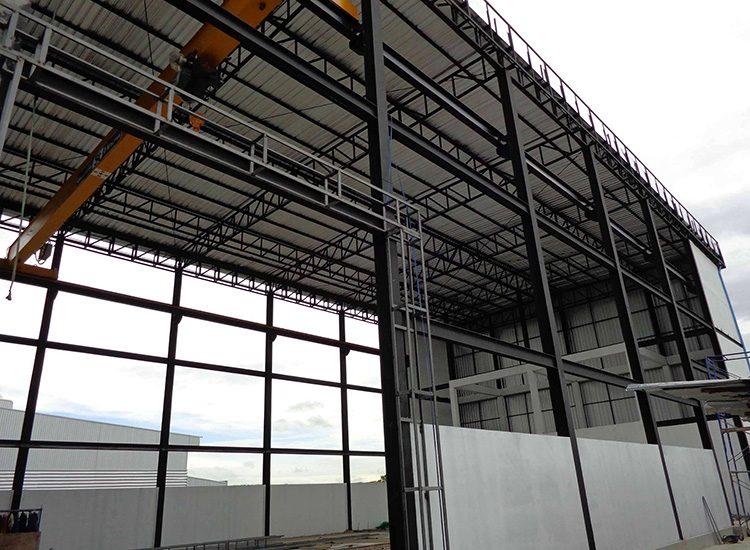 ผลงานการออกแบบและก่อสร้าง โรงงาน บริษัท ไทยเฟล็กซ์ อีควิปเม้นท์