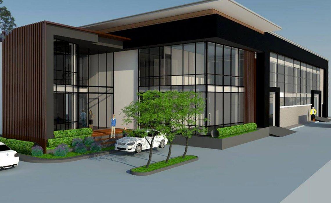 HOME PLAN factory สำนักงานและโรงงาน ผลิตวัสดุแผ่นความร้อน พื้นที่ใช้สอย 1,120 ตร.ม. รับสร้างบ้าน ตกแต่งภายใน จัดสวน ครบวงจร รับออกแบบบ้านและอาคารทุกประเภท
